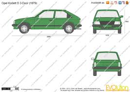 1980 opel the blueprints com vector drawing opel kadett d 3 door