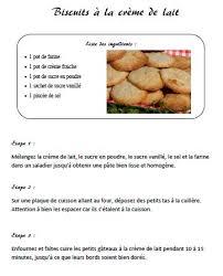 recette de cuisine ce1 recette des biscuits à la crème de lait de la grand mère de