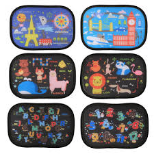 Car Window Blinds Baby 2pcs Car Sun Shade Blocks For Baby Kids Care Cartoon Cute Toddler