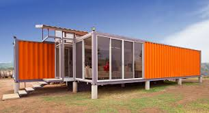 orange exterior design of the conex container homes for sale that
