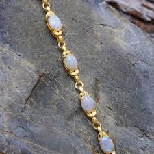 gold plated sterling silver bracelet images Gold plated silver solid opal bracelet black star opal jpg