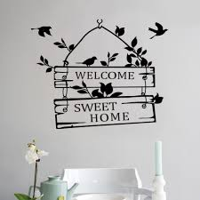 home decoration wall stickers welcome home living room bedroom