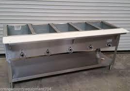 duke gas steam table 5 well gas steam table duke aerohot db 305 dry bath nsf 4407
