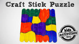craft stick puzzle youtube