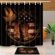 Western Bathroom Shower Curtains Arts Crafts Mission Style Shower Curtain Sets Ebay