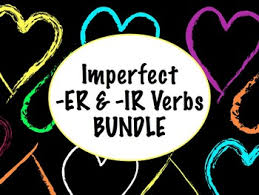 spanish imperfect of er u0026 ir verbs bundle slideshow worksheets