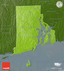 United States Physical Map by Physical Map Of Rhode Island Darken