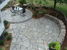 Backyard Flagstone Patio Ideas by Stone Patio Cost Crafts Home