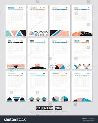 cute calendar template 2017 yearly planner stock vector 473143609