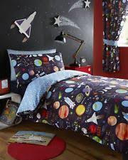 Boys Space Curtains Rocket Ships And Space Children U0027s Curtains Ebay