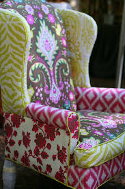 Fun Armchairs Perfectly Imperfect Bohemian Rhapsody Queen Anne Chair Fabrics