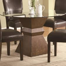 glass top tables with metal base round glass dining table design come with black metal frame and