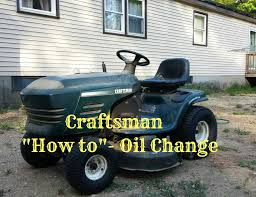 craftsman lawn mower how to change oil youtube
