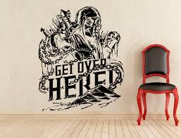 get over here stickers scorpion mortal kombat wall vinyl zoom