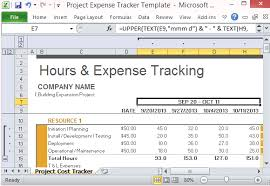 Tracking Project Costs Template Excel Project Expense Tracker Template For Excel
