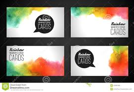 watercolor rainbow business cards stock vector image 45087835