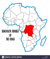 Outline Map Of Africa by Democratic Republic Of The Congo Outline Inset Into A Map Of