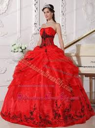 and black quinceanera dresses appliques and black gown strapless organza dress for