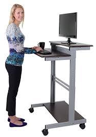 standing computer desk amazon amazon com 32 mobile ergonomic stand up desk computer workstation