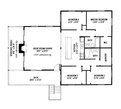 cabin style house plan 4 beds 2 baths 1600 sq ft plan 959 4