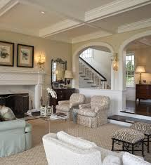Earth Tone Colors For Living Room Arched Cabins Interior Family Room Mediterranean With Wood Trim