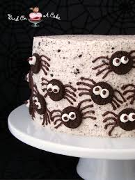 bird on a cake oreo spiders cake