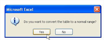 convert the table to a normal range best excel tutorial tables
