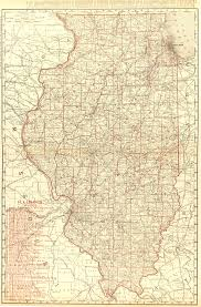 Illinois Map With Counties by Illinois Counties U0026 Railroads Map 1895 Original Art Antique