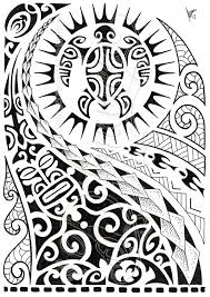 grey and black polynesian tattoo design in 2017 real photo