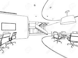 bureau dessin intérieur aperçu croquis dessin perspective d un espace bureau clip