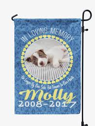 dog memorial personalized pet memorial photo flag mostly paws