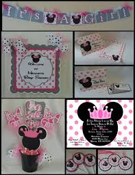 minnie mouse baby shower favors minnie mouse baby shower party package shower decorations
