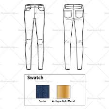 skinny jeans with knee slits flat template u2013 illustrator stuff