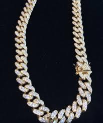 rose gold link necklace images Yellow white or rose gold finish 11mm miami cuban link chain jpg