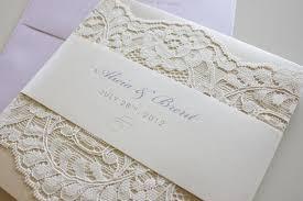 Pocket Wedding Invites 6 Stylish Lace Wedding Invitations With Pocket Elite Wedding Looks