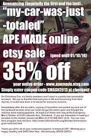 totaled for sale 35 my car was just totaled etsy sale ape made