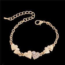 crystal rhinestone cuff bracelet images Buy shuangr bracelet female heart designs gold jpg