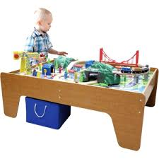 Thomas The Train Play Table 100 Piece Wooden Train Set Table Toy Kid Activity Toddler Center