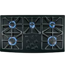 Ge Built In Gas Cooktop Jgp970bekbb In Black On Black By Ge Appliances In Hempstead Tx