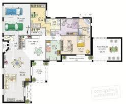 plan maison 4 chambres suite parentale cuisine villa de plain pied dã du plan de villa de plain pied