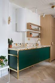 kitchens interiors this green and the terrazzo counter top kitchens interiors