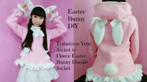 easter bunny diy u2013transform your hoodie jacket to fleece easter