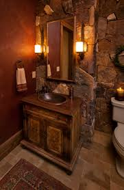 1 tag rustic full bathroom with drop in sink slate tile floors