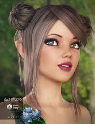 buns hair honey buns hair 3d models and 3d software by daz 3d