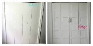 Diy Closet Door Remodelaholic Bi Fold To Paneled Door Closet Makeover
