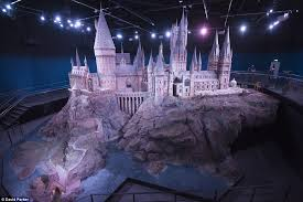 incredibly detailed model of hogwarts castle used for every harry