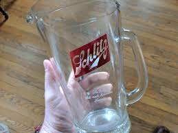 schlitz beer glass pitcher flea market find