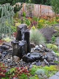 Rock Fountains For Garden Not Sure We Need Three Even One Would Be If It Was Built Up