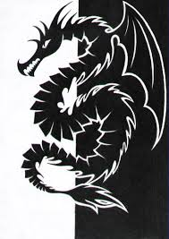 dragon black and white by kitka97 on deviantart