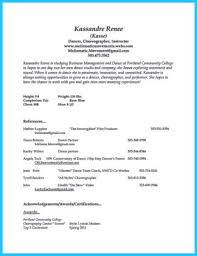 Dance Resume Examples by Dance Resume Dance Resume Templates Resume Template And